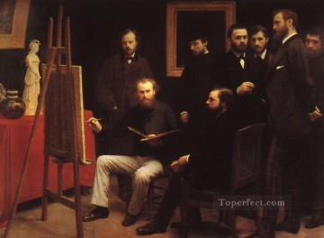 1870 Canvas - An Atelier in the Batignolles 1870 Henri Fantin Latour