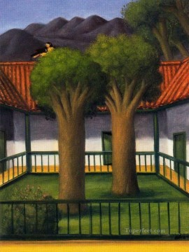 El patio Fernando Botero Oil Paintings