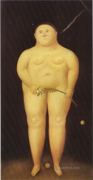adam Painting - Adam and Eve Adam Fernando Botero