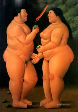 Adam and Eve Fernando Botero Oil Paintings