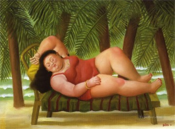 Bather Art - Bather on the Beach Fernando Botero