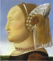 Battista Sforza after Piero della Francesca Fernando Botero