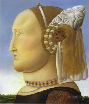 Francesca Painting - Battista Sforza after Piero della Francesca Fernando Botero