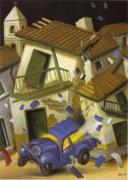 Car Bomb Fernando Botero Oil Paintings