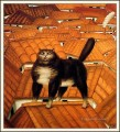 Cat on a Roof Fernando Botero