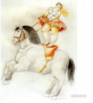 Circus woman on a horse Fernando Botero Oil Paintings