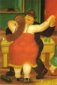 Dancing Art - Couple Dancing Fernando Botero