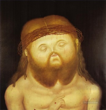 baptism of christ Painting - Head of Christ Fernando Botero