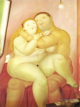 Love Painting - Lovers Fernando Botero