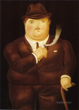 Man in a Tuxedo Fernando Botero Oil Paintings