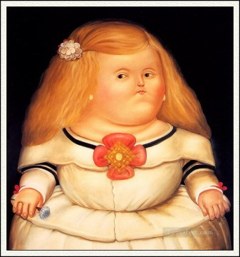 Menina After Velazquez Fernando Botero Oil Paintings