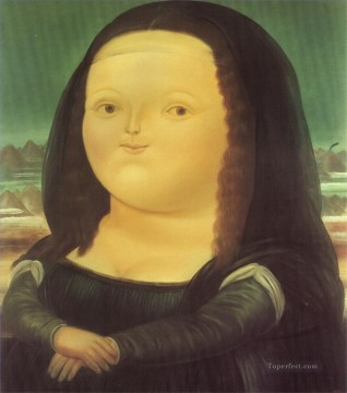 Mona Lisa Fernando Botero Oil Paintings