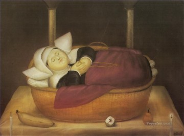 New born Nun Fernando Botero Oil Paintings