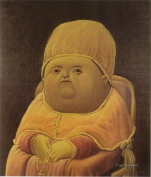 Botero Works - Pope Leo X after Raphael Fernando Botero