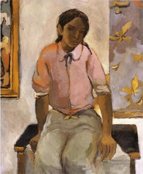 Indian Art - Portrait of a Young Indian Fernando Botero