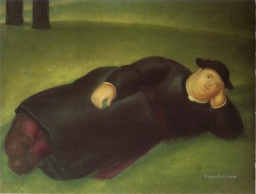 Priest Extends Fernando Botero Oil Paintings