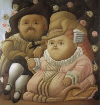 Wife Deco Art - Rubens and His Wife Fernando Botero