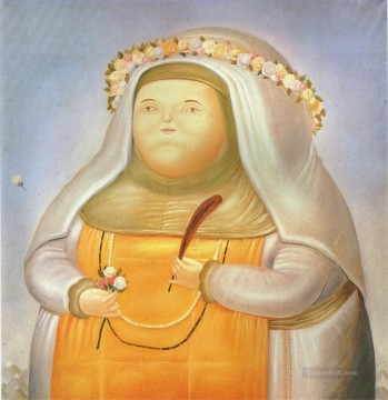 Saint Rose of Lima Fernando Botero Oil Paintings