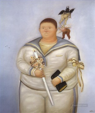 Day Painting - Self Portrait the Day of the First Communion Fernando Botero