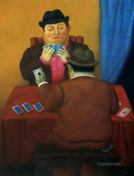 The Card Players Fernando Botero Oil Paintings