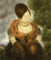 The First Lady Fernando Botero oil painting