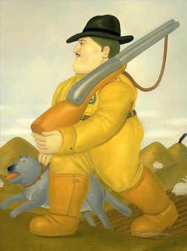 hunt Painting - The Hunter 3 Fernando Botero