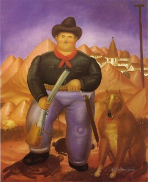hunt Painting - The Hunter Fernando Botero