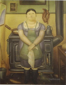 The Maid Fernando Botero Oil Paintings