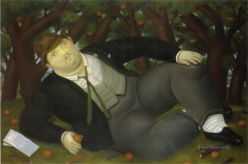 The Poet Fernando Botero Oil Paintings