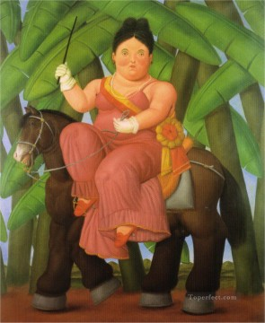 The President and First Lady Fernando Botero Oil Paintings