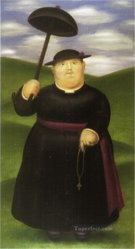 Walk in the Hills Fernando Botero Oil Paintings
