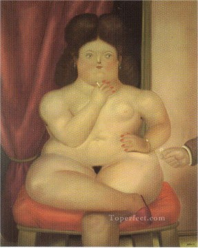 Woman Sitting Fernando Botero Oil Paintings