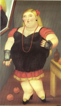 Woman Standing Fernando Botero Oil Paintings