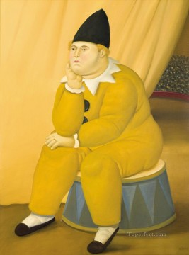 ink Art Painting - thinker Fernando Botero