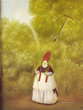 Archbishop Lost in the Woods Fernando Botero Oil Paintings