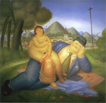 Love Painting - Lovers 2 Fernando Botero