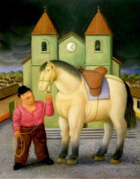 horse canvas - Man and Horse 2 Fernando Botero
