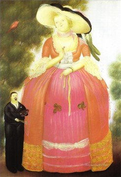 Self Portrait with Madame Pompadour Fernando Botero Oil Paintings