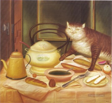 Still Life with Green Soup Fernando Botero Oil Paintings