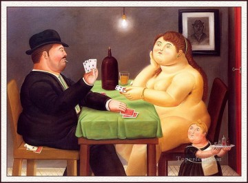 Botero Works - The Card Player Fernando Botero