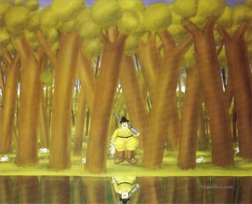 The Hunter 2 Fernando Botero Oil Paintings