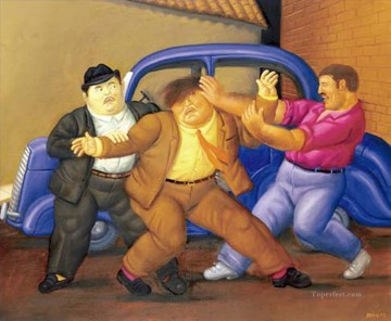 secuestro express Fernando Botero Oil Paintings