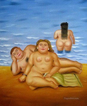 swimmers Fernando Botero Oil Paintings