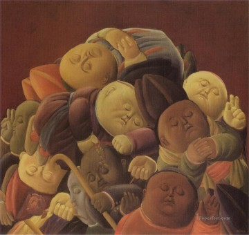 Dead Bishops Fernando Botero Oil Paintings