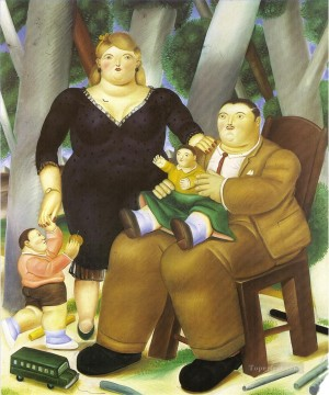 Family Fernando Botero Oil Paintings