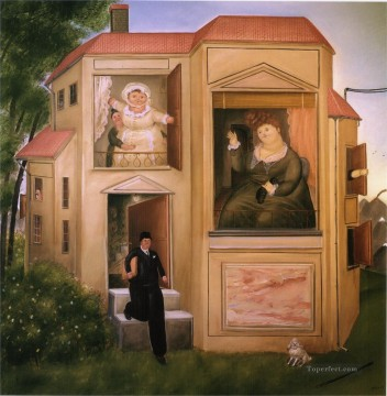 Man Who Went to the Office Fernando Botero Oil Paintings