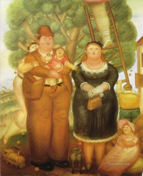 Portrait of a Family Fernando Botero Oil Paintings