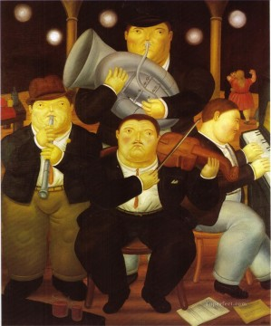 four musicians Fernando Botero Decor Art