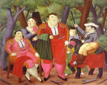 left Canvas - Lefty and His Gang Fernando Botero