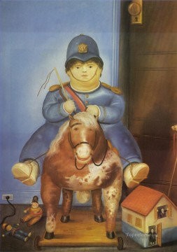 Botero Canvas - Pedro on Horseback Fernando Botero